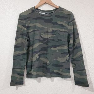 NWT RDI Camo Green Thermal Long Sleeve Top Size Sm